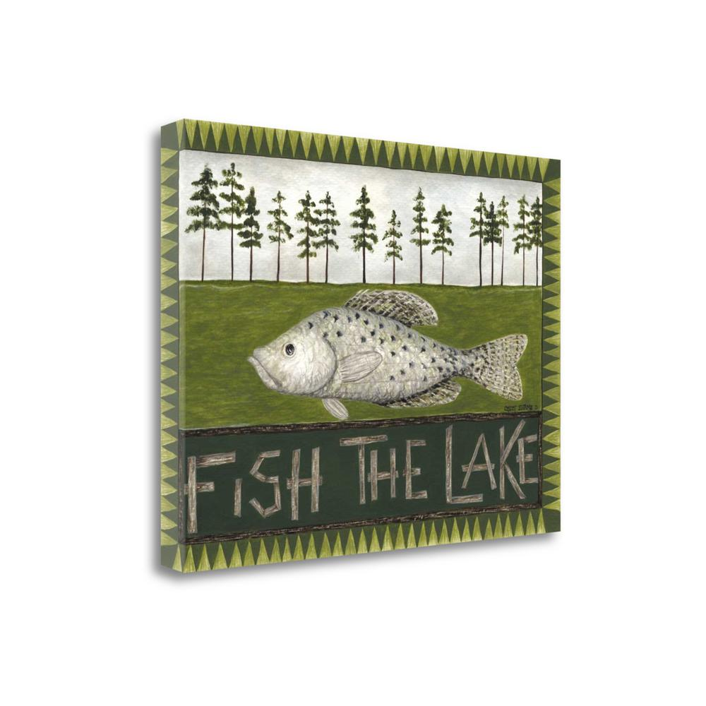 """Fish The Lake"" By Cindy Shamp, Fine Art Giclee Print on Gallery Wrap Canvas. Picture 1"