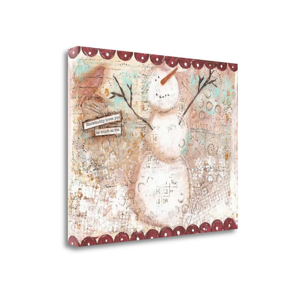 """Snowbuddy"" By Cassandra Cushman, Fine Art Giclee Print on Gallery Wrap Canvas, Ready to Hang. Picture 1"