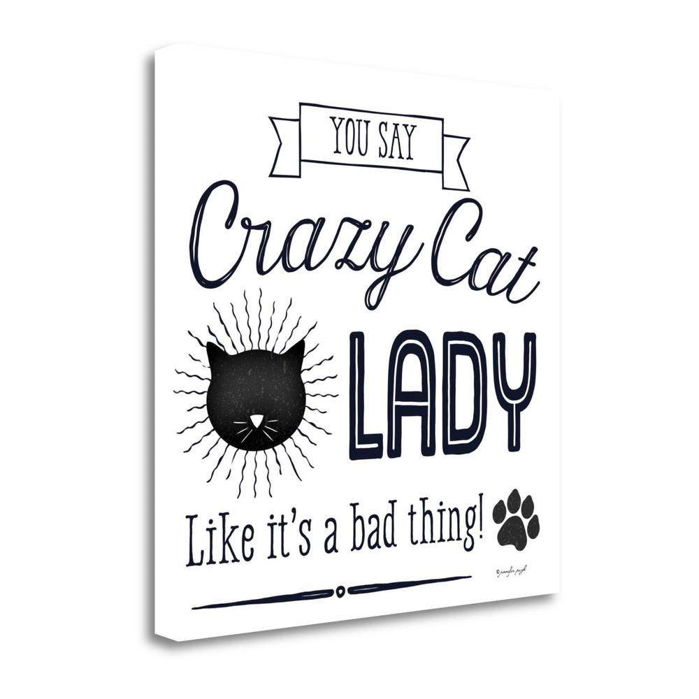 """Crazy Cat Lady"" By Jennifer Pugh, Giclee Print on Gallery Wrap Canvas, 1.5"" x 24"", SBJP4683-2424c. Picture 1"
