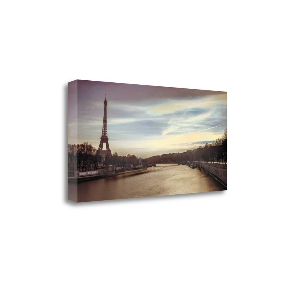 """Paris Sunset"" By Assaf Frank, Fine Art Giclee Print on Gallery Wrap Canvas, 1.5"" x 23"", CA316370-3920c. Picture 1"