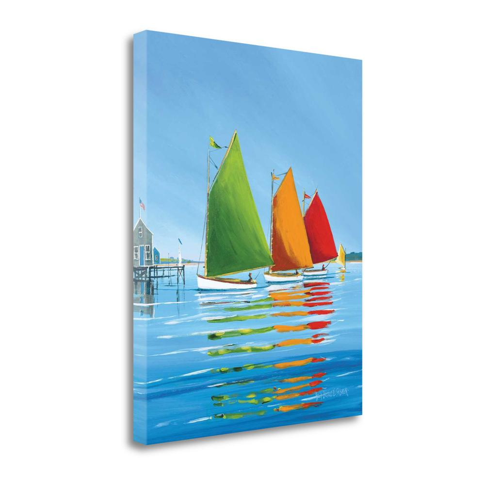 """""""Cape Cod Sail"""" By Sally Caldwell Fisher, Giclee Print on Gallery Wrap Canvas. Picture 1"""