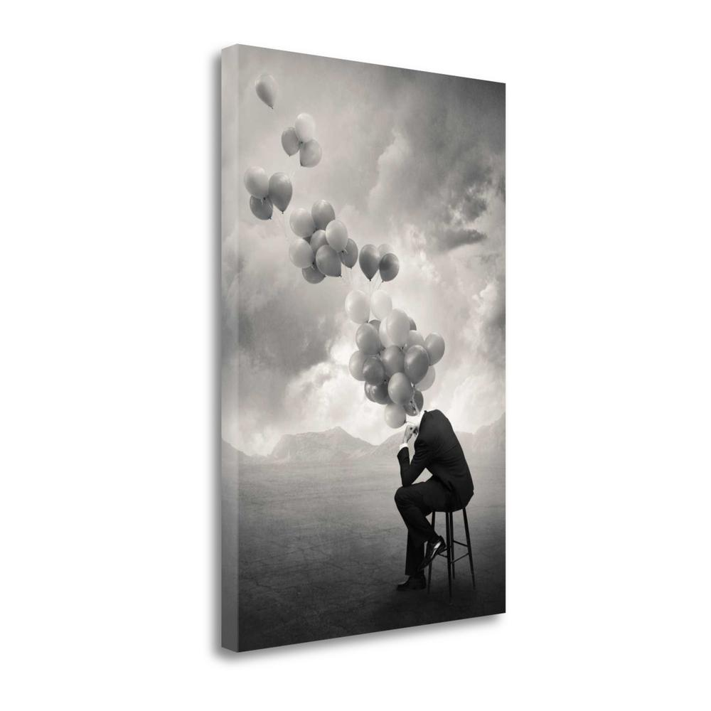 """""""Think"""" By Tommy Ingberg, Fine Art Giclee Print on Gallery Wrap Canvas. Picture 1"""