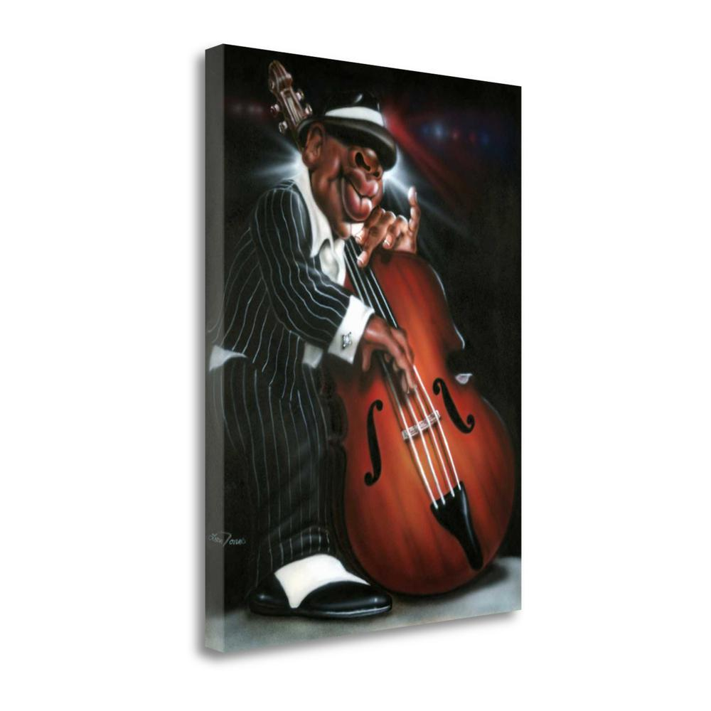 """Jazzman D"" By Leonard Jones, Fine Art Giclee Print on Gallery Wrap Canvas. Picture 1"