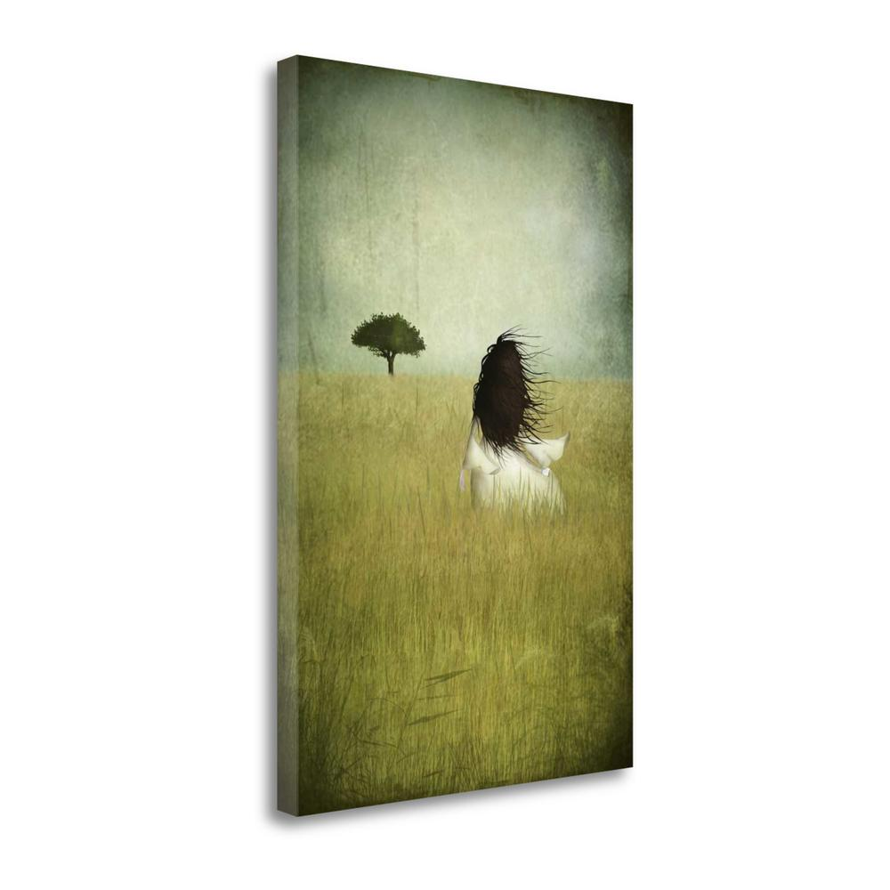 """Girl On The Field"" By Majali, Fine Art Giclee Print on Gallery Wrap Canvas. Picture 1"