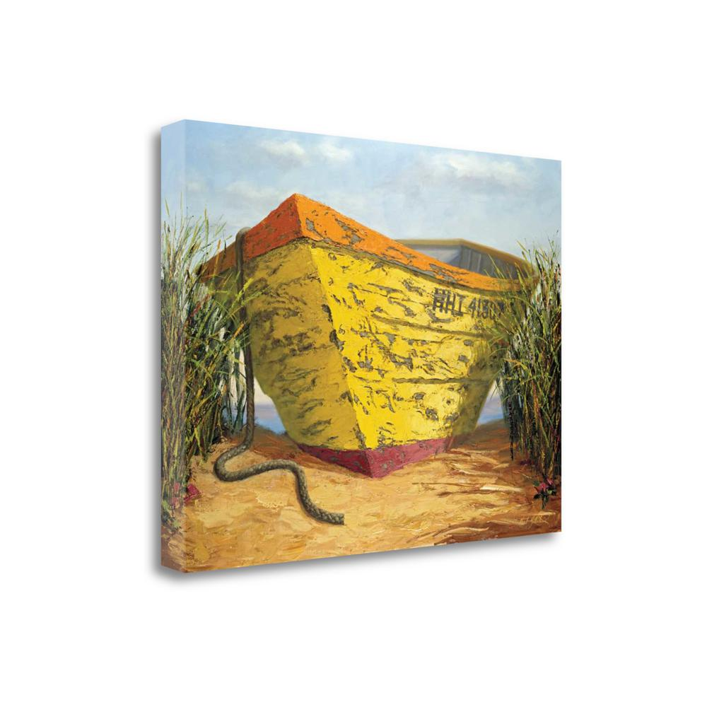 """Yellow And Orange Rowboat"" By Karl Soderlund, Giclee on Gallery Wrap Canvas. Picture 1"