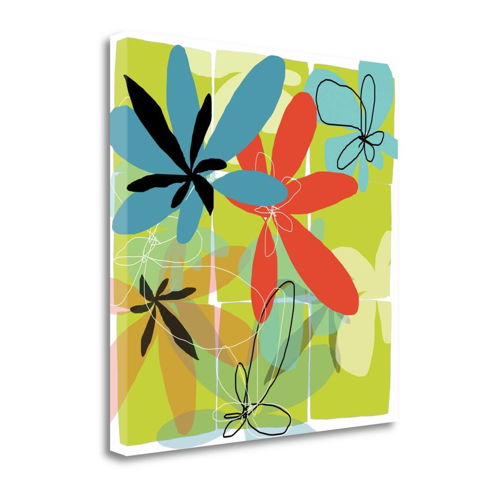 """""""Pop Goes Space Four"""" By Jan Weiss, Giclee Print on Gallery Wrap Canvas. Picture 1"""