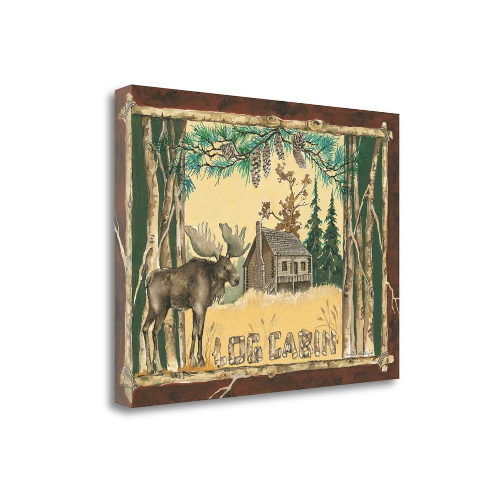 """""""Log Cabin Moose"""" By Anita Phillips, Giclee Print on Gallery Wrap Canvas. Picture 1"""