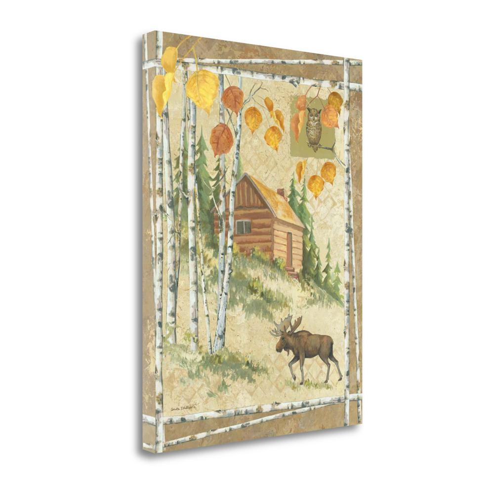"""""""Moose Cabin"""" By Anita Phillips, Fine Art Giclee Print on Gallery Wrap Canvas. Picture 1"""