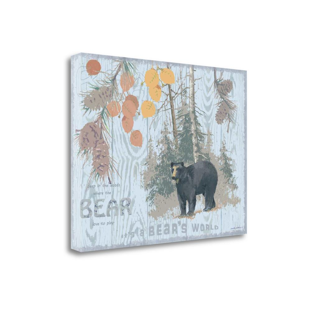 """""""Bears World Gray"""" By Anita Phillips, Giclee Print on Gallery Wrap Canvas. Picture 1"""