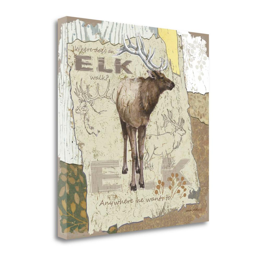 """""""Elk Walk"""" By Anita Phillips, Fine Art Giclee Print on Gallery Wrap Canvas. Picture 1"""