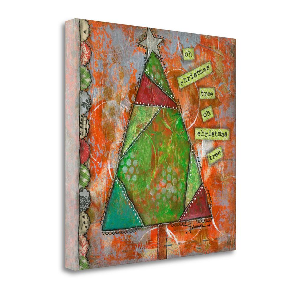 """""""Oh Christmas Tree II"""" By Denise Braun, Giclee Print on Gallery Wrap Canvas. Picture 1"""