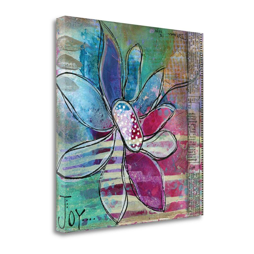 """""""Joy Floral"""" By Denise Braun, Fine Art Giclee Print on Gallery Wrap Canvas. Picture 1"""