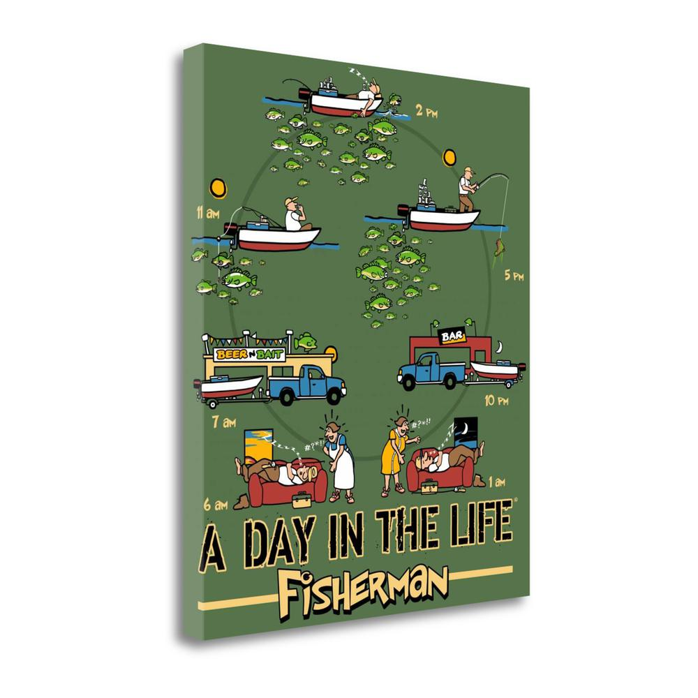 """""""Day In The Life Fishing"""" By Jim Baldwin, Giclee Print on Gallery Wrap Canvas. Picture 1"""