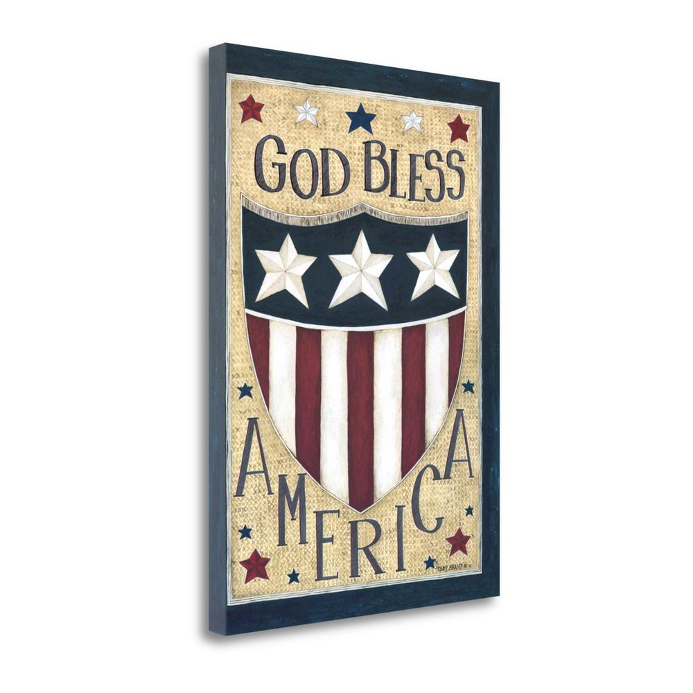 """God Bless America"" By Cindy Shamp, Giclee Print on Gallery Wrap Canvas. Picture 1"
