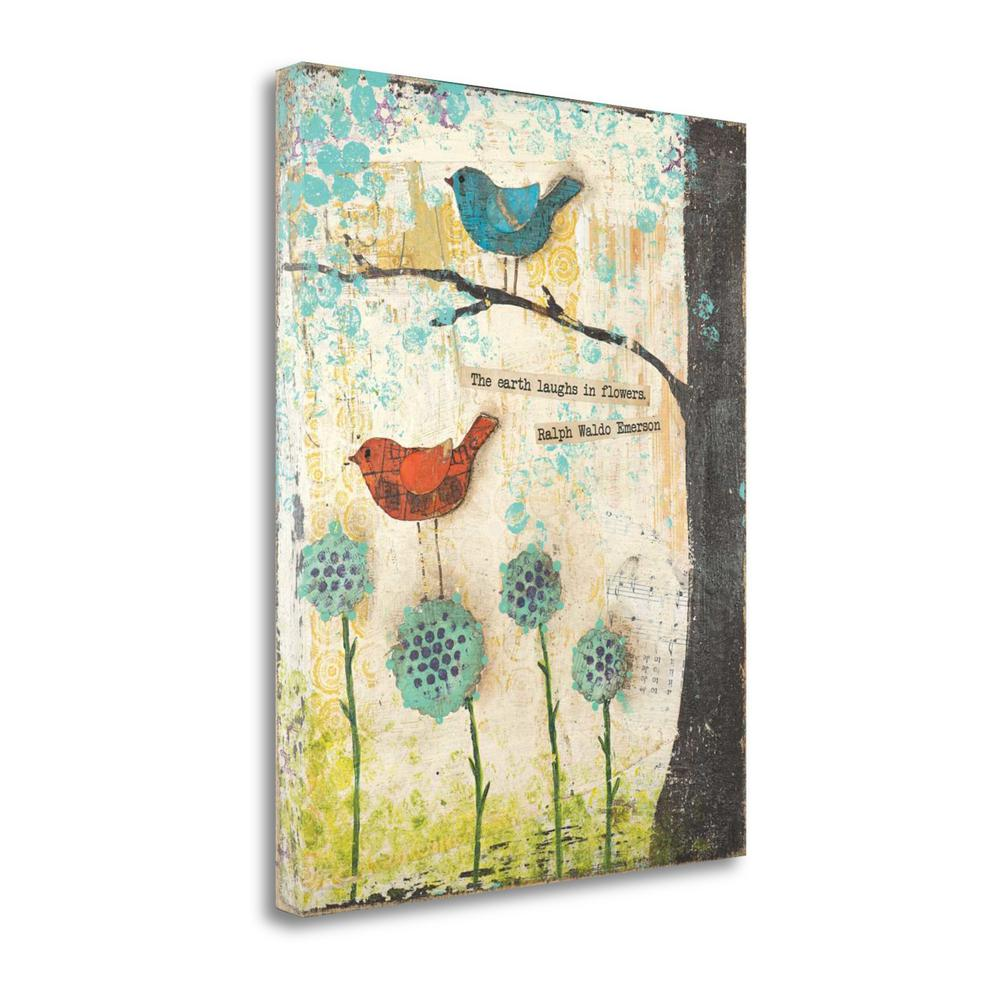 """""""Earth Laughs In Flowers"""" By Cassandra Cushman, Giclee on Gallery Wrap Canvas. Picture 1"""