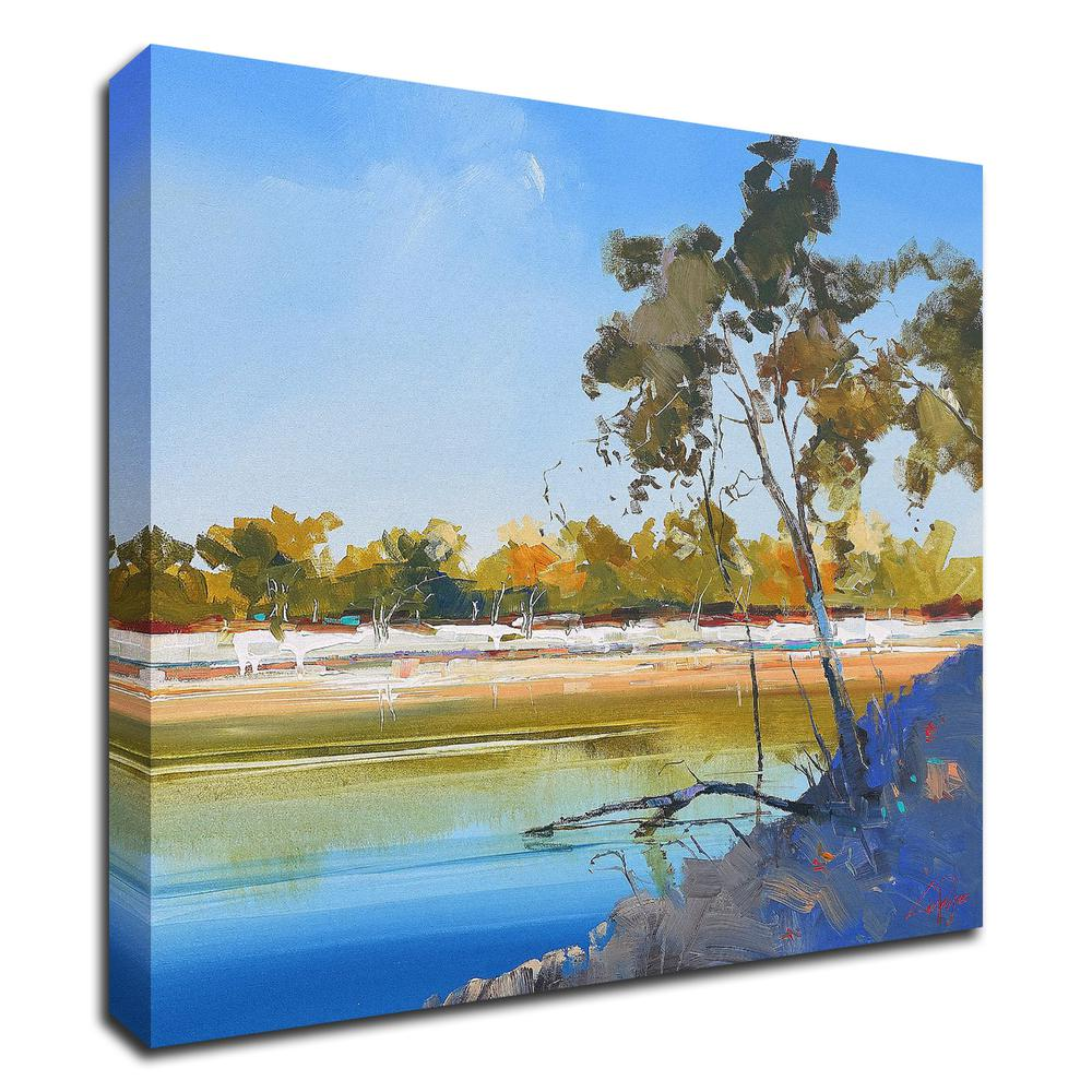 """River Bank by Craig Trewin Penny , Print on Canvas, 30"""" x 30"""", Ready to Hang. Picture 1"""