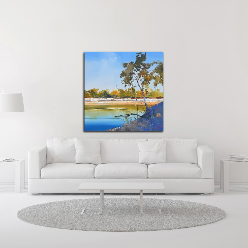 """River Bank by Craig Trewin Penny , Print on Canvas, 30"""" x 30"""", Ready to Hang. Picture 2"""