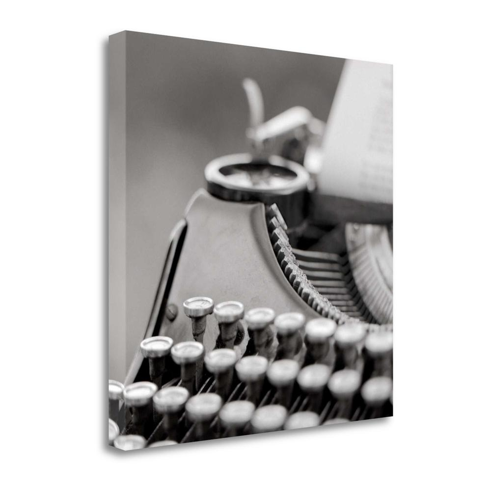 """""""Retro - Typewriter - 2"""" By Alan Blaustein, Giclee Print on Gallery Wrap Canvas. Picture 1"""