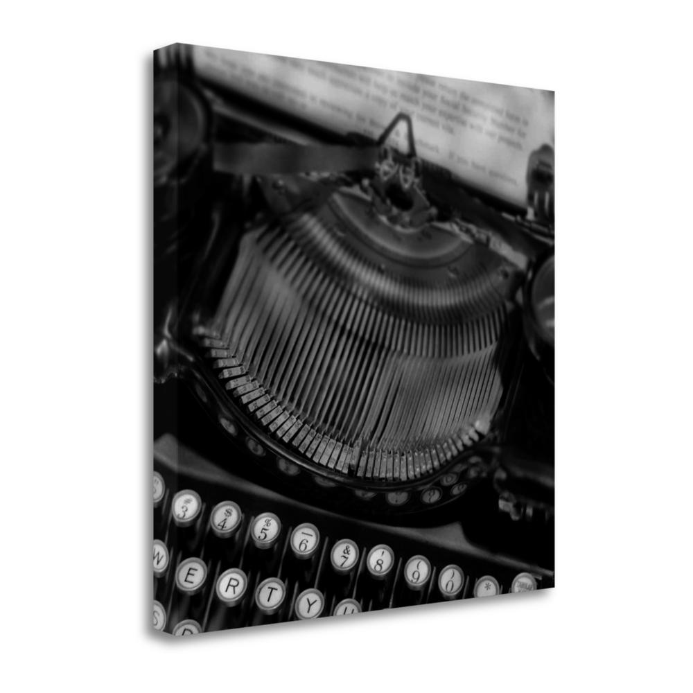 """Retro - Typewriter - 4"" By Alan Blaustein, Giclee Print on Gallery Wrap Canvas. Picture 1"
