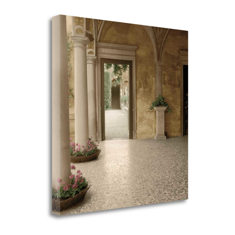 """""""Villa Portico No. 2"""" By Alan Blaustein, Giclee Print on Gallery Wrap Canvas. Picture 1"""