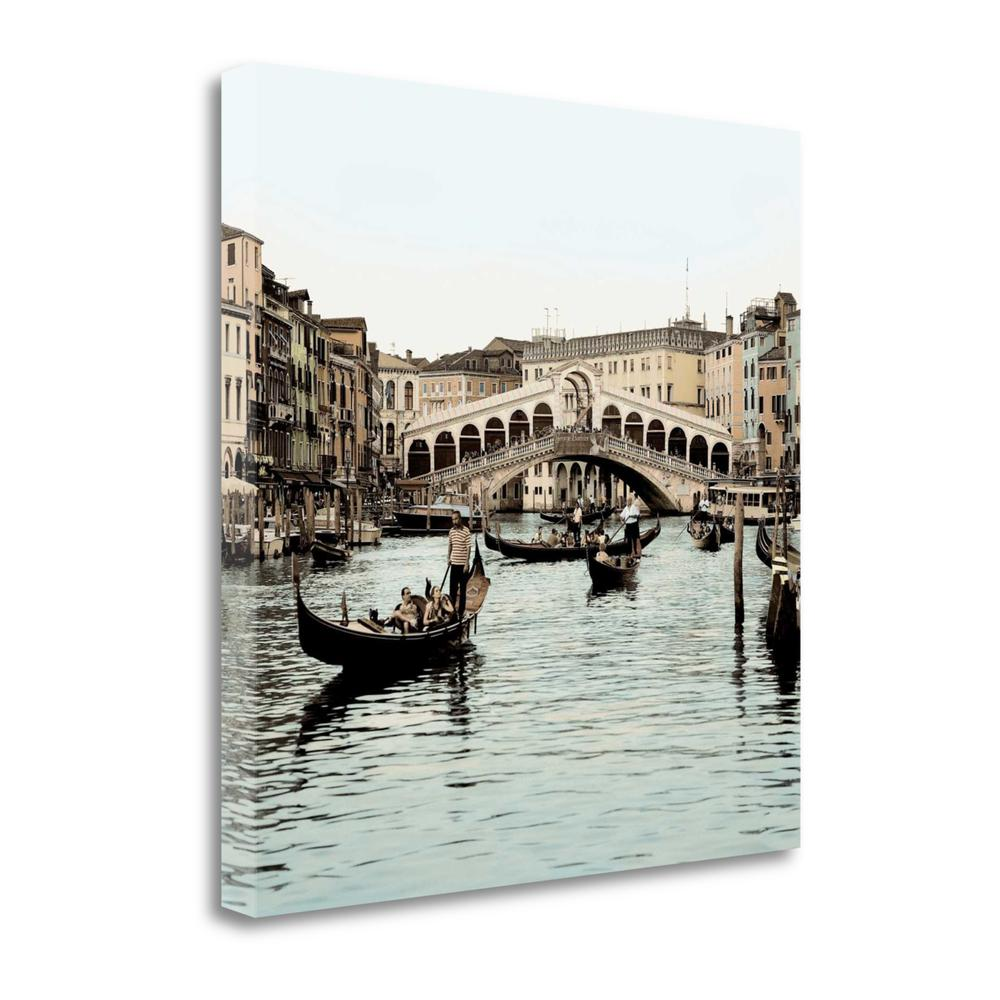 """Ponte Rialto Con Gondolas"" By Alan Blaustein, Giclee on Gallery Wrap Canvas. Picture 1"
