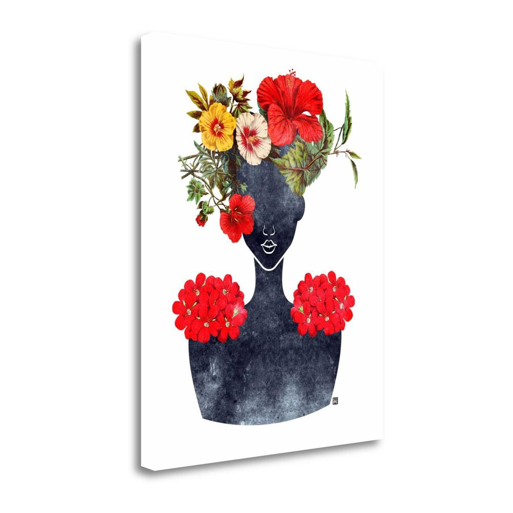 """""""Flower Crown Silhouette I"""" By Tabitha Brown, Giclee on Gallery Wrap Canvas. Picture 1"""