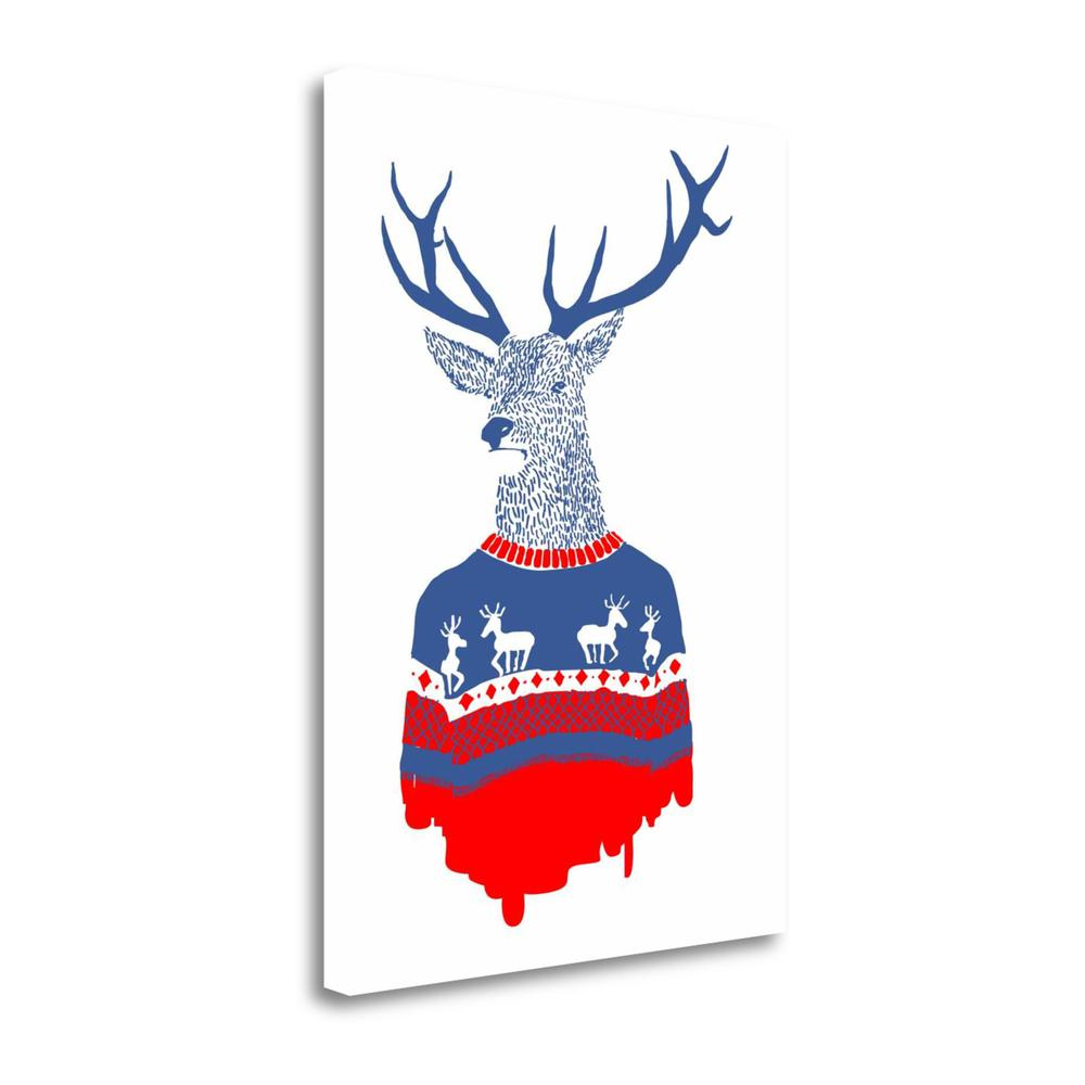 """Ugly Winter Pullover"" By Robert Farkas, Giclee Print on Gallery Wrap Canvas. Picture 1"