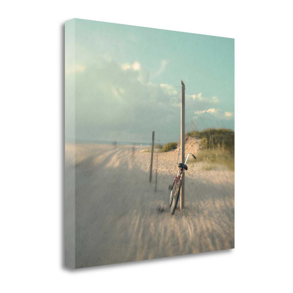 """""""Biking On Ocracoke"""" By Dawn D. Hanna, Giclee Print on Gallery Wrap Canvas. Picture 1"""