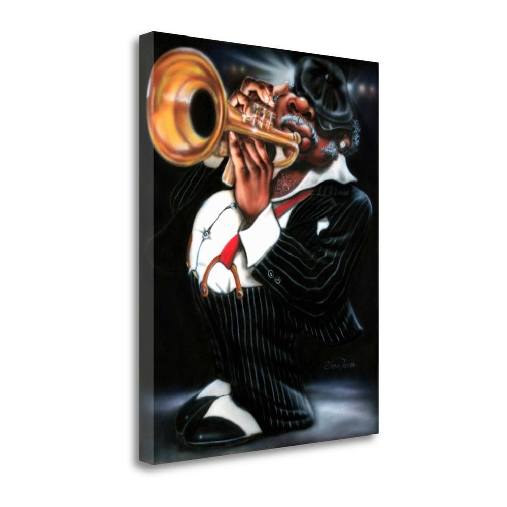 """Jazzman Papa Joe"" By Leonard Jones, Giclee Print on Gallery Wrap Canvas. Picture 1"