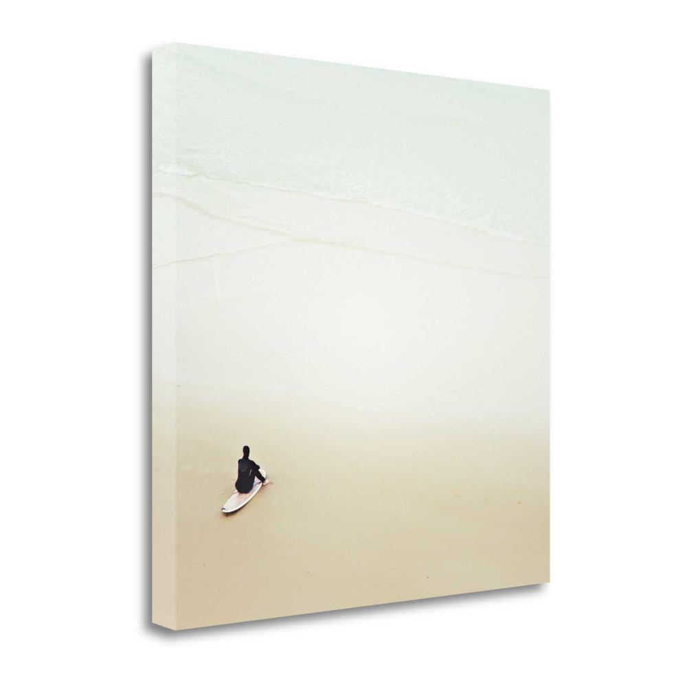 """""""Waiting For The Waves"""" By Margaret Morrissey, Giclee on Gallery Wrap Canvas. Picture 1"""