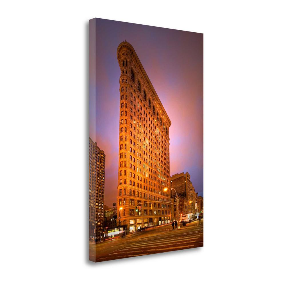 """Dramatic Flatiron"" By Natalie Mikaels, Giclee Print on Gallery Wrap Canvas. Picture 1"