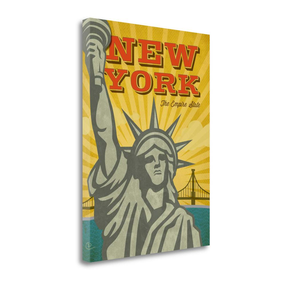 """New York The Empire State"" By Renee Pulve, Giclee Print on Gallery Wrap Canvas. Picture 1"