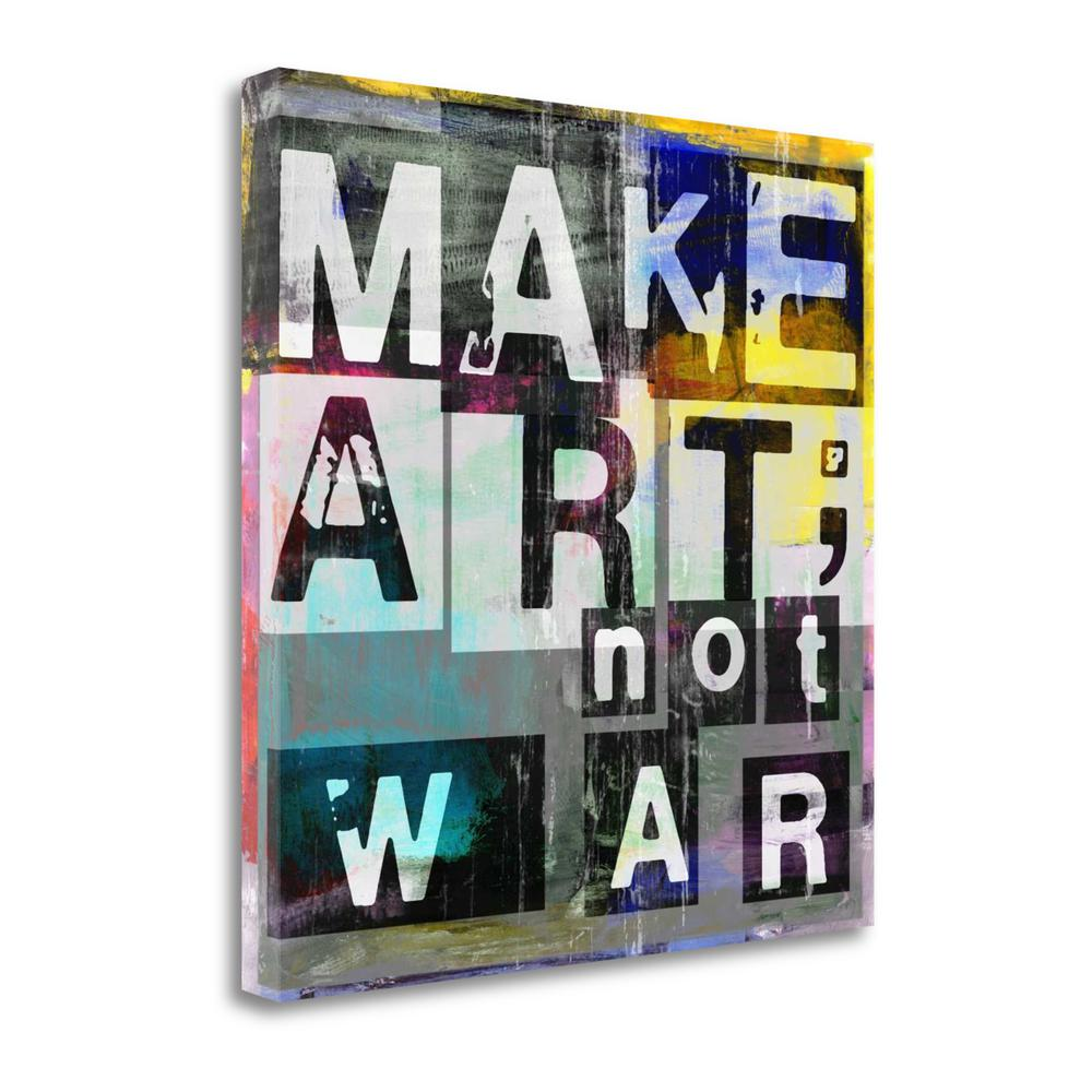 """Make Art Not War"" By Sven Pfrommer, Giclee Print on Gallery Wrap Canvas. Picture 1"
