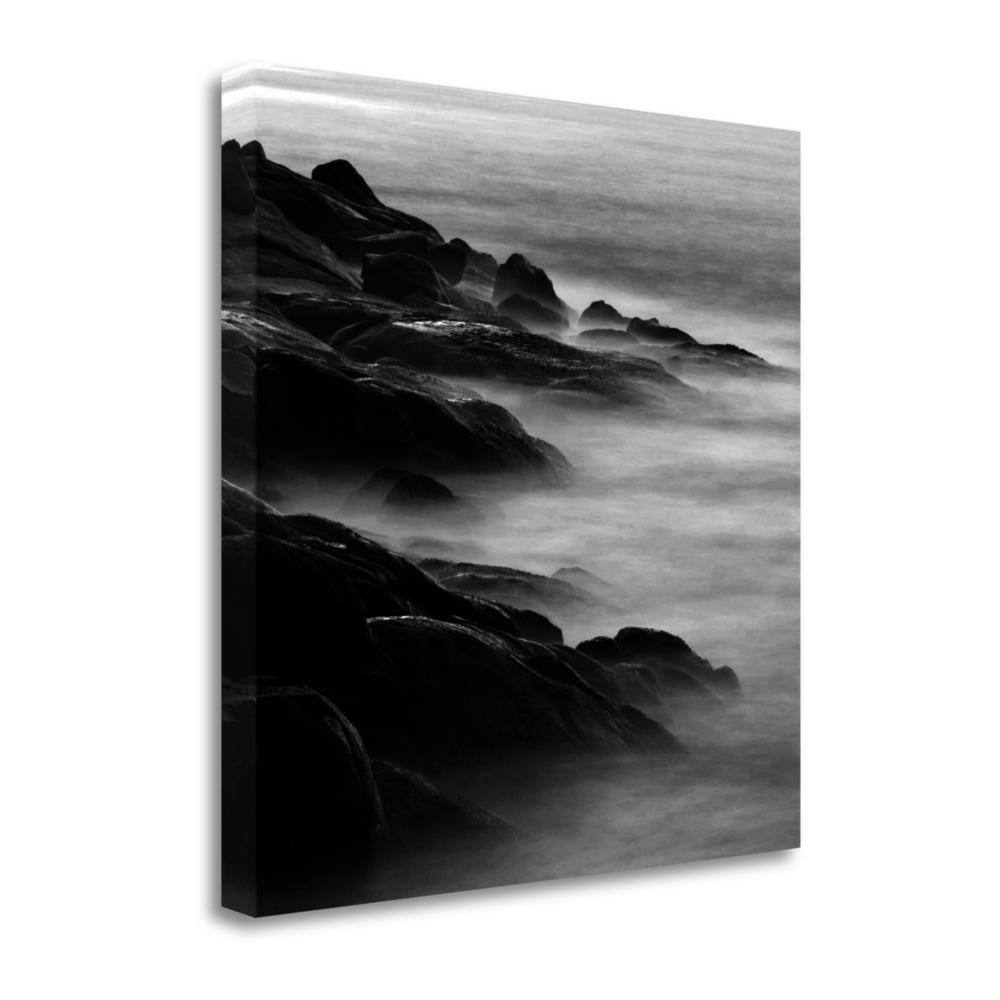"""Rocks In Mist 1"" By Photoinc Studio, Giclee Print on Gallery Wrap Canvas. Picture 1"