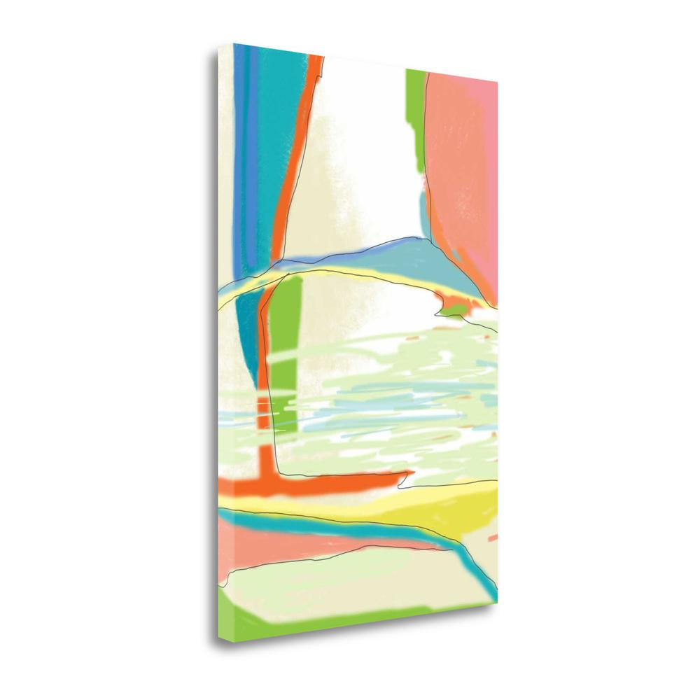 """""""Deconstructed Landscape 3"""" By Jan Weiss, Giclee Print on Gallery Wrap Canvas. Picture 1"""