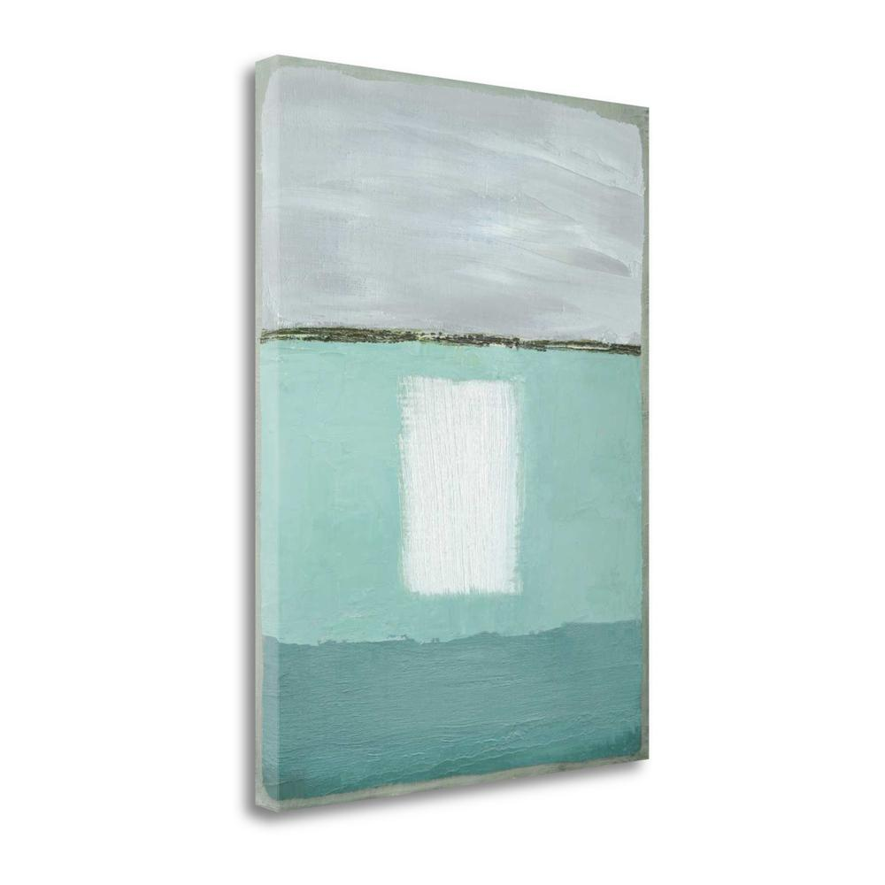 """Azure Blue II"" By Caroline Gold, Fine Art Giclee Print on Gallery Wrap Canvas. Picture 1"