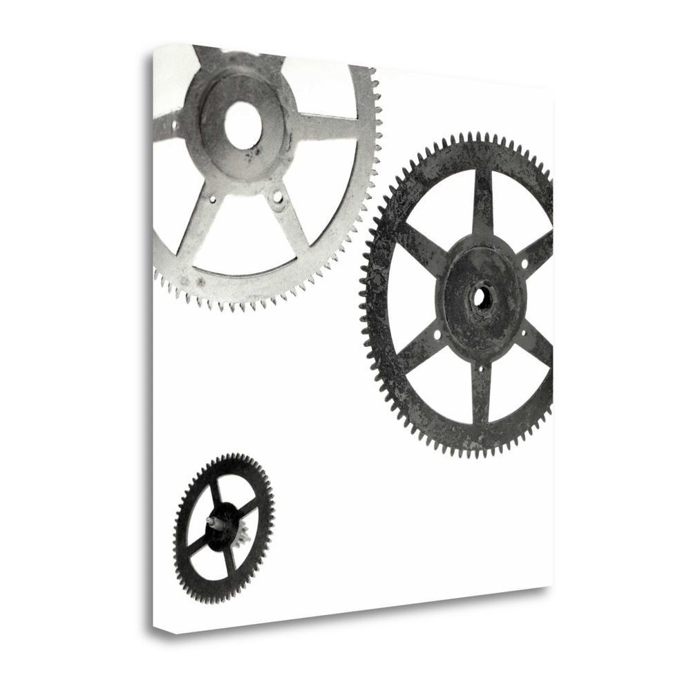 """""""Retro - Gears - 8"""" By Alan Blaustein, Giclee Print on Gallery Wrap Canvas. Picture 1"""