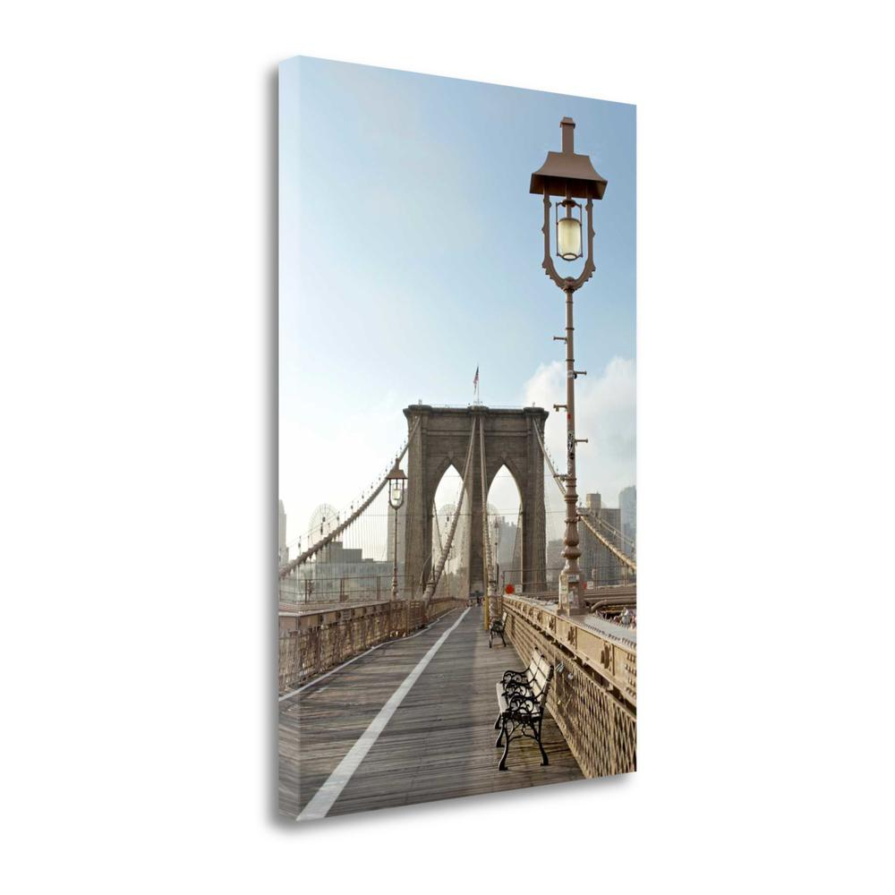 """""""Brooklyn Bridge"""" By Alan Blaustein, Giclee Print on Gallery Wrap Canvas. Picture 1"""