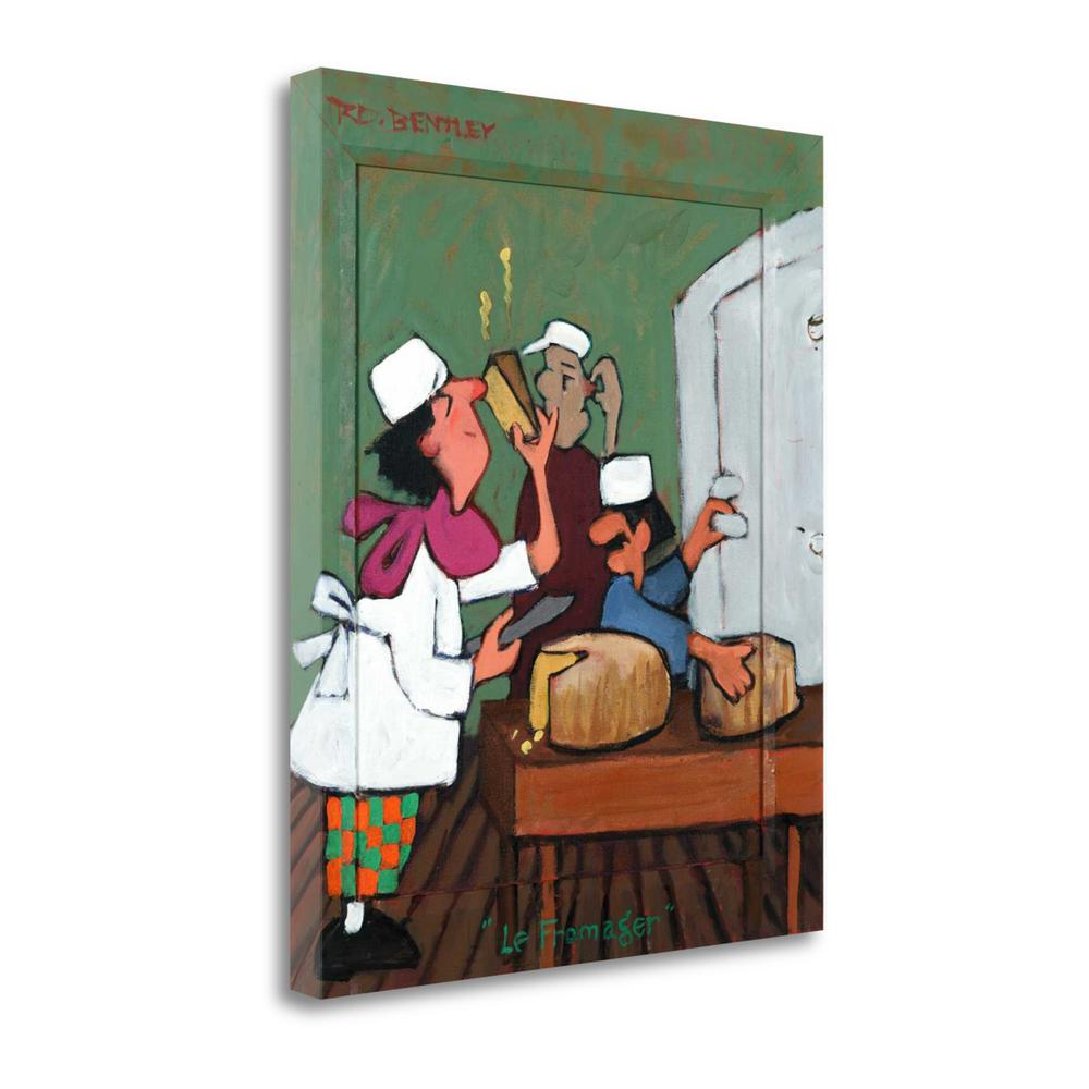 """""""Le Fromager"""" By Robert Dewar Bentley, Giclee Print on Gallery Wrap Canvas. Picture 1"""