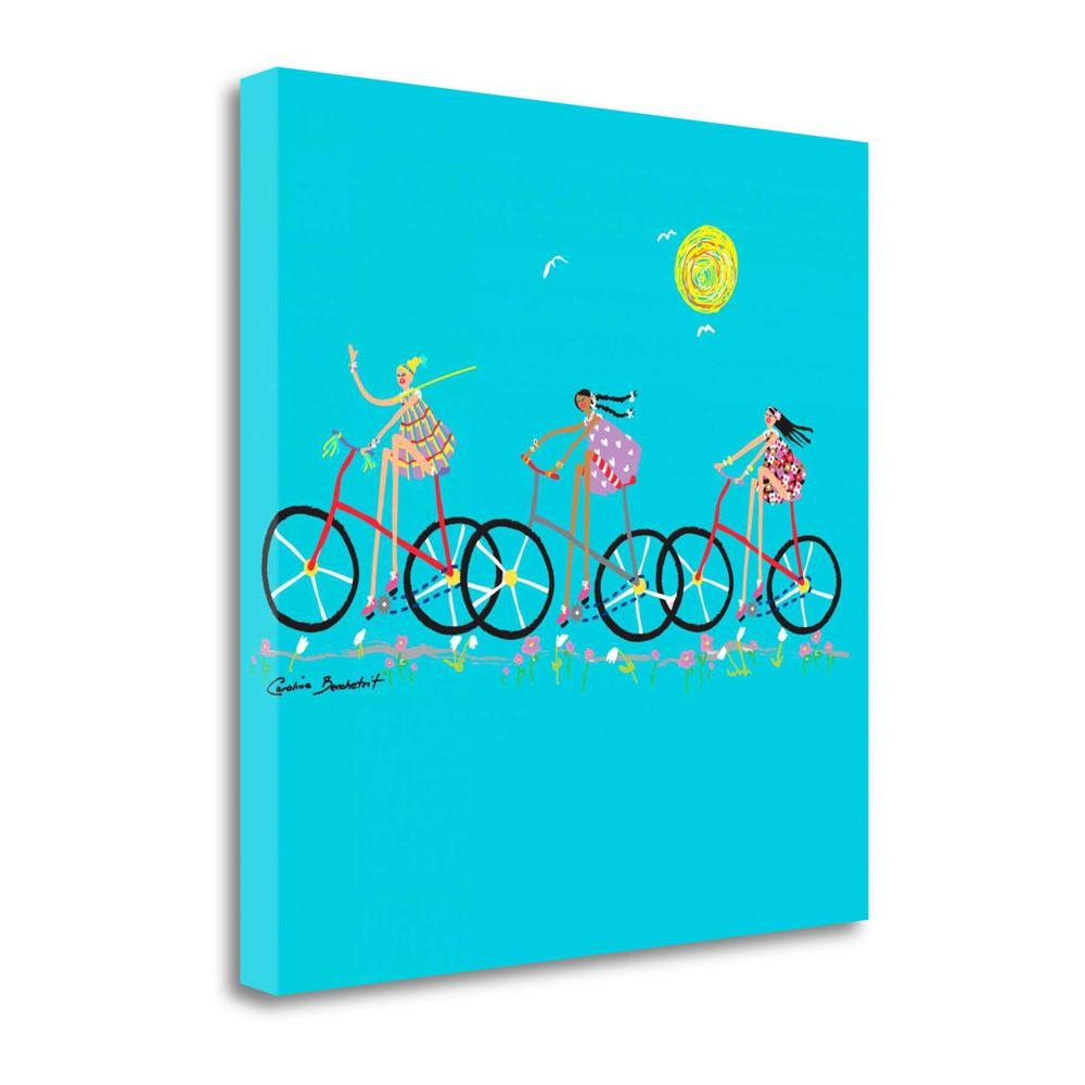 """""""Tour De Girls"""" By Caroline Benchetrit, Giclee Print on Gallery Wrap Canvas. Picture 1"""