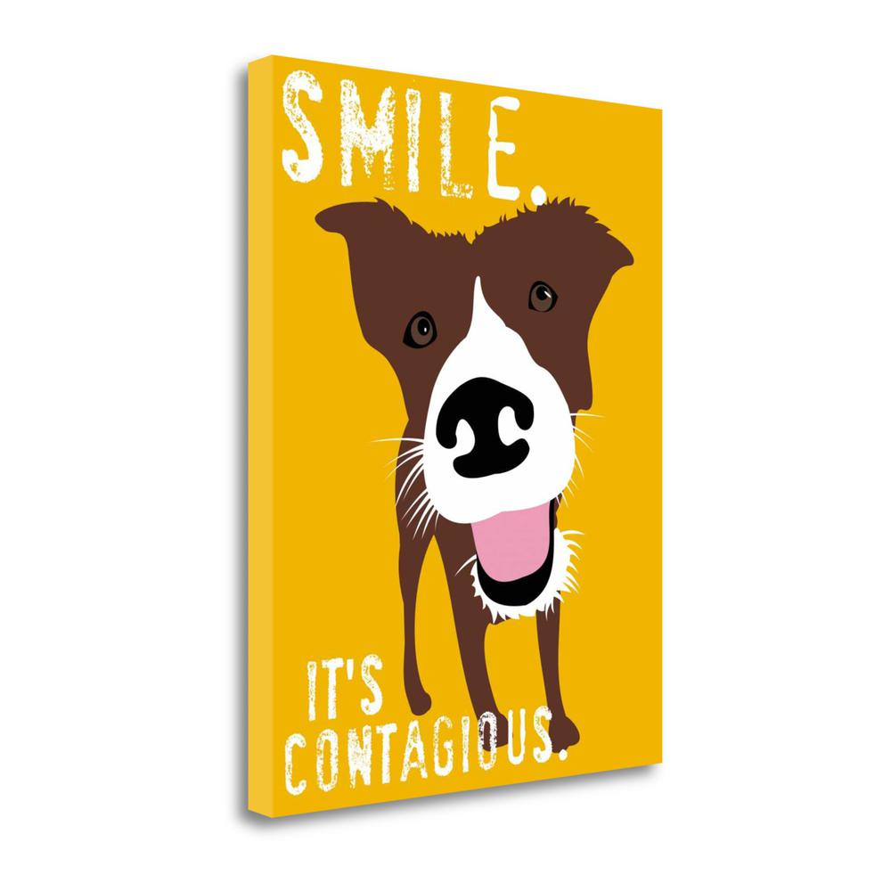 """""""Smile"""" By Ginger Oliphant, Fine Art Giclee Print on Gallery Wrap Canvas. Picture 1"""