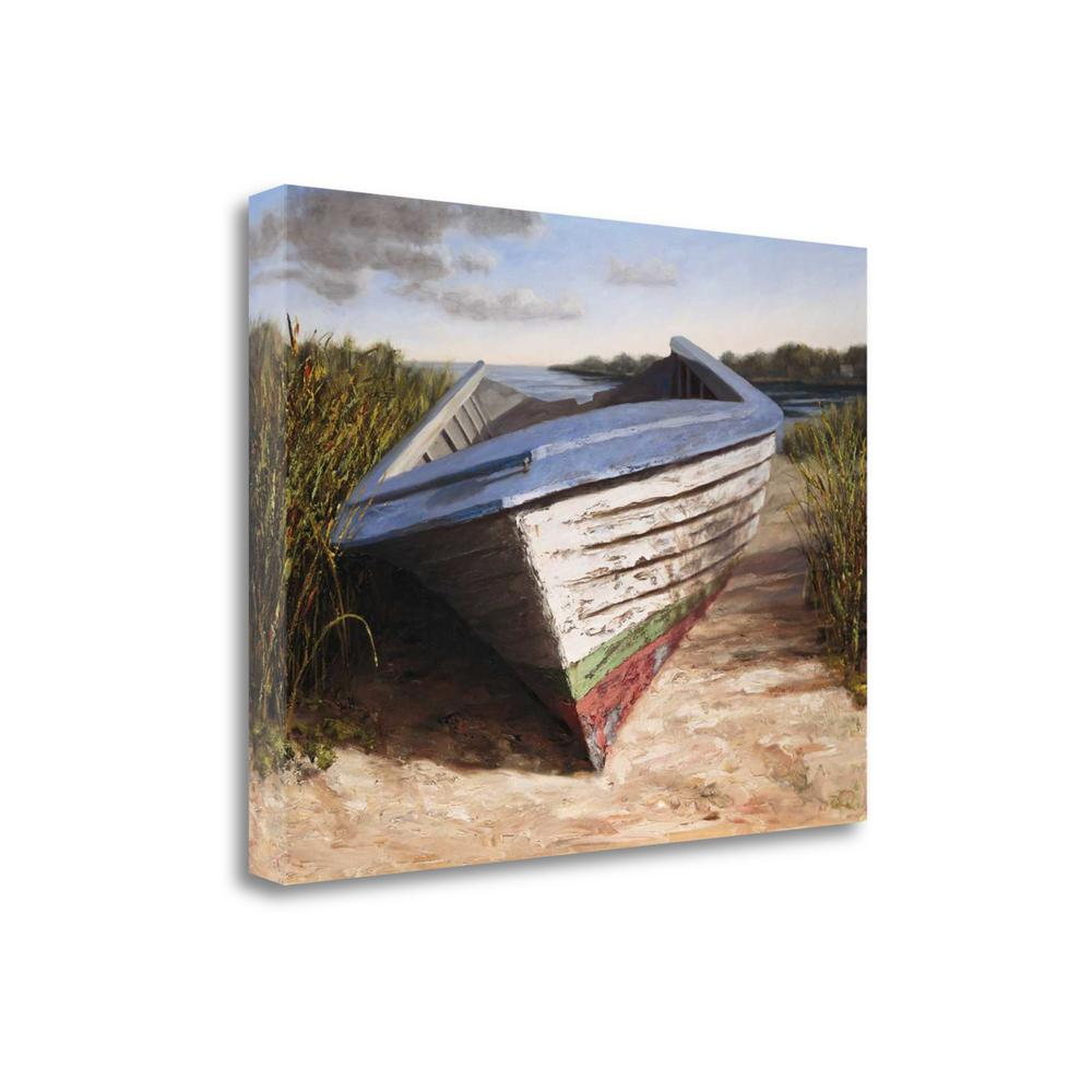 """Montauk Skiff"" By Karl Soderlund, Giclee Print on Gallery Wrap Canvas. Picture 1"