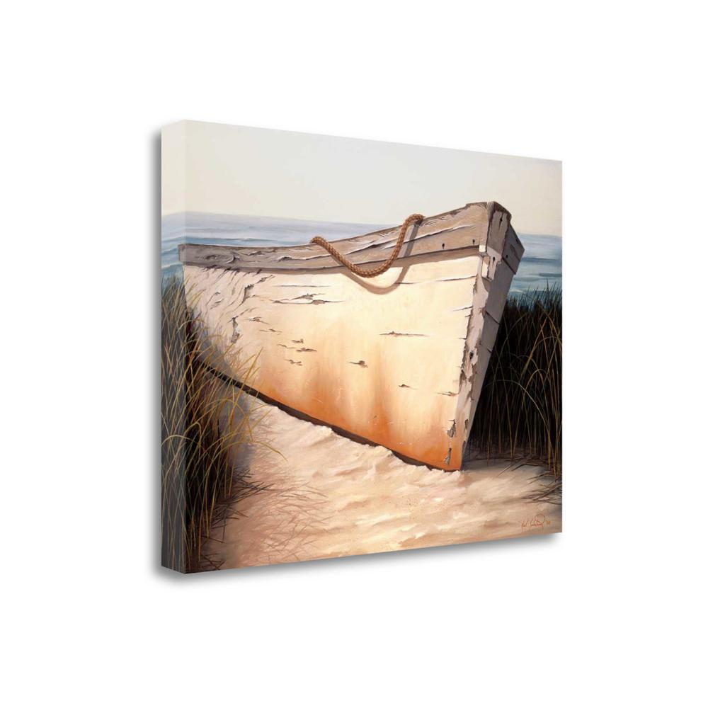 """""""White Boat"""" By Karl Soderlund, Fine Art Giclee Print on Gallery Wrap Canvas. Picture 1"""