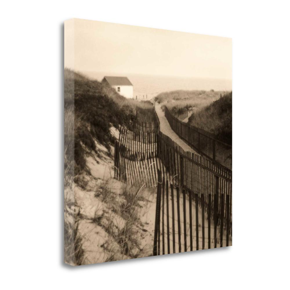 """Dune Fence"" By Christine Triebert, Giclee Print on Gallery Wrap Canvas. Picture 1"