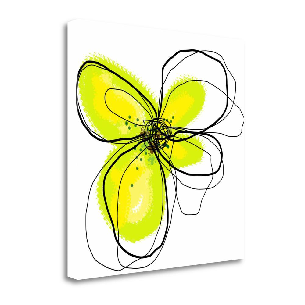 """Yellow Petals One"" By Jan Weiss, Fine Art Giclee Print on Gallery Wrap Canvas. Picture 1"