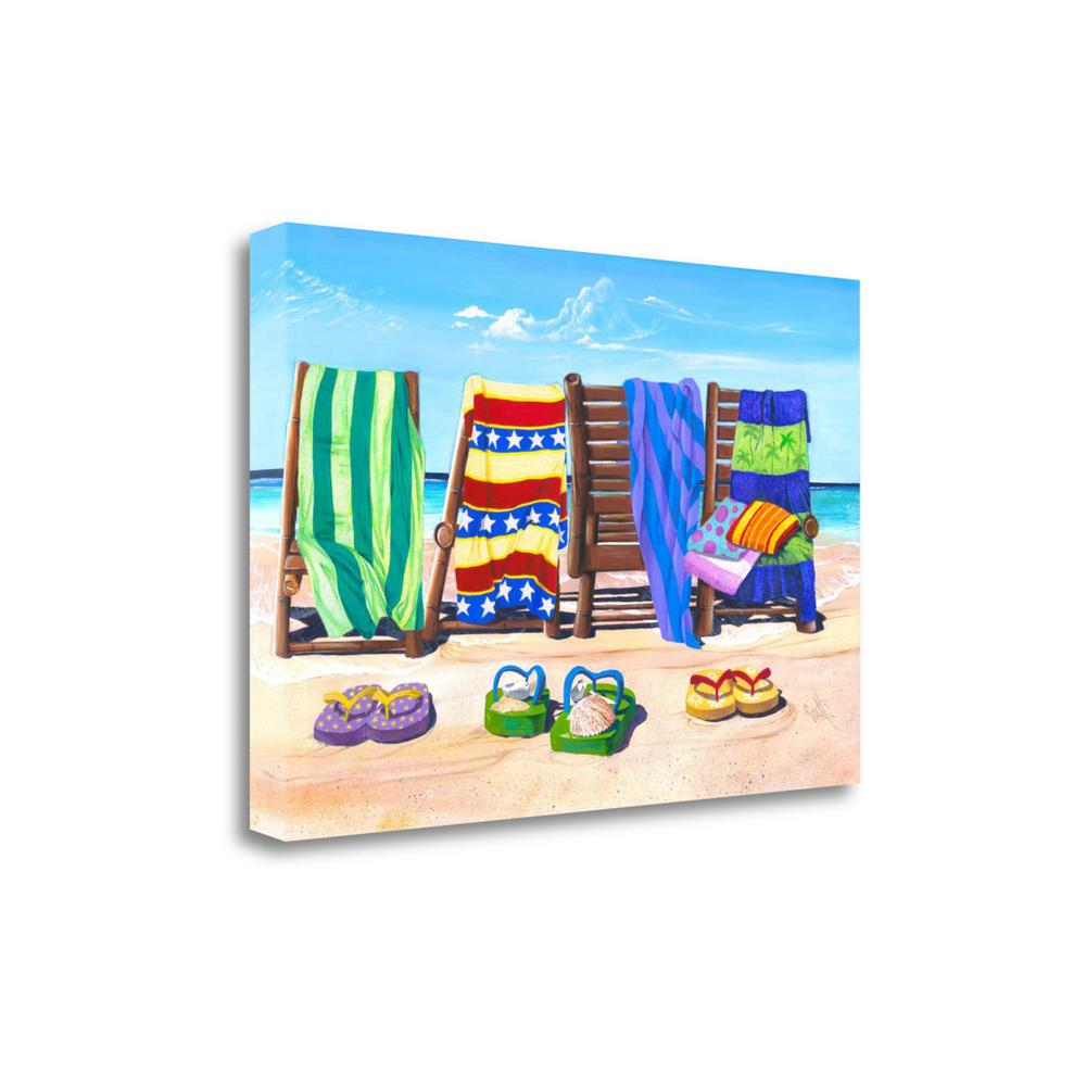 """""""Sandals And Seats"""" By Scott Westmoreland, Giclee Print on Gallery Wrap Canvas. Picture 1"""