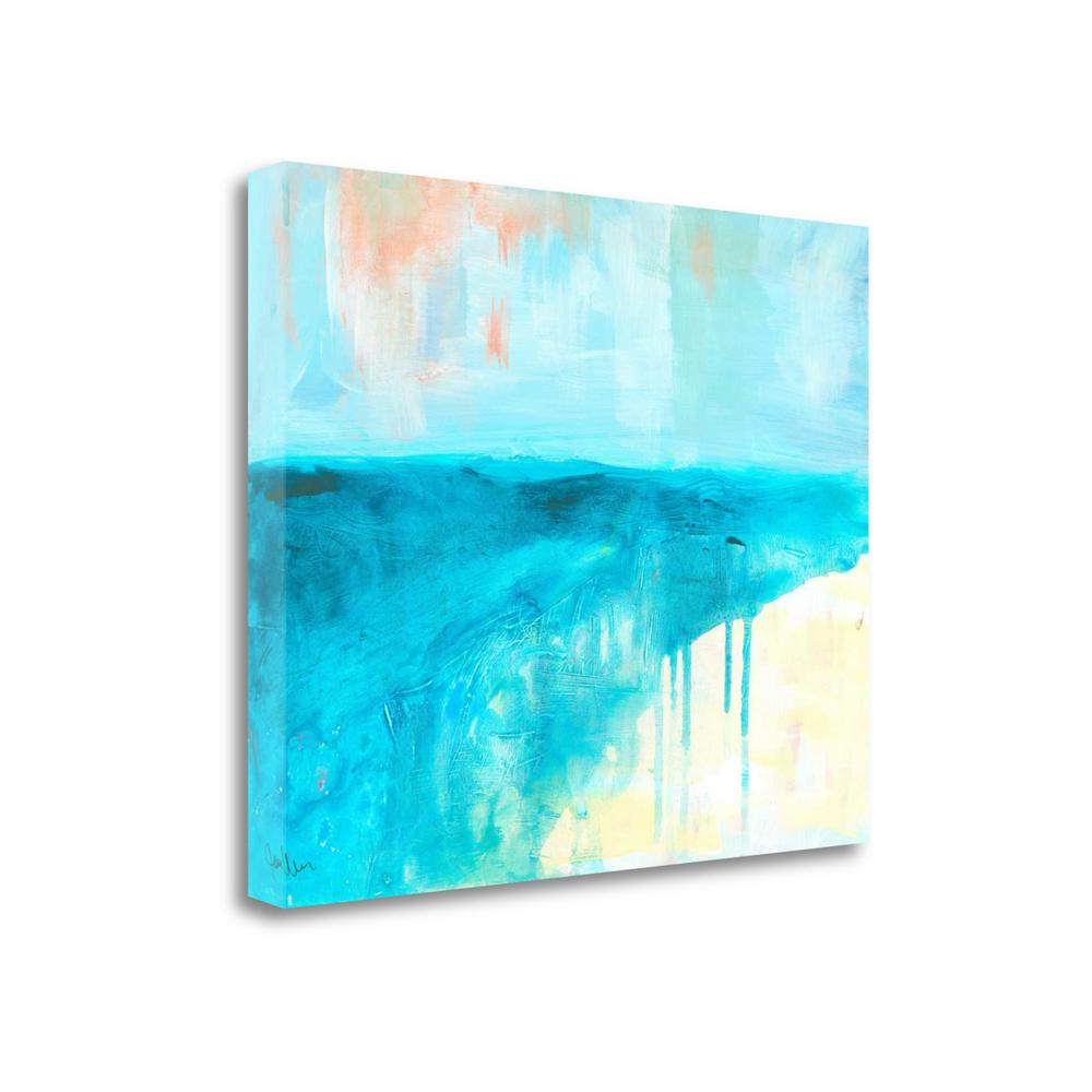 """Coastal Blues 2"" By Jan Weiss, Fine Art Giclee Print on Gallery Wrap Canvas. Picture 1"