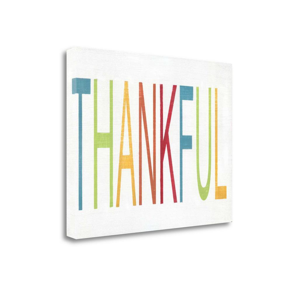 """Thankful"" By Alli Rogosich, Fine Art Giclee Print on Gallery Wrap Canvas, Ready to Hang. Picture 1"
