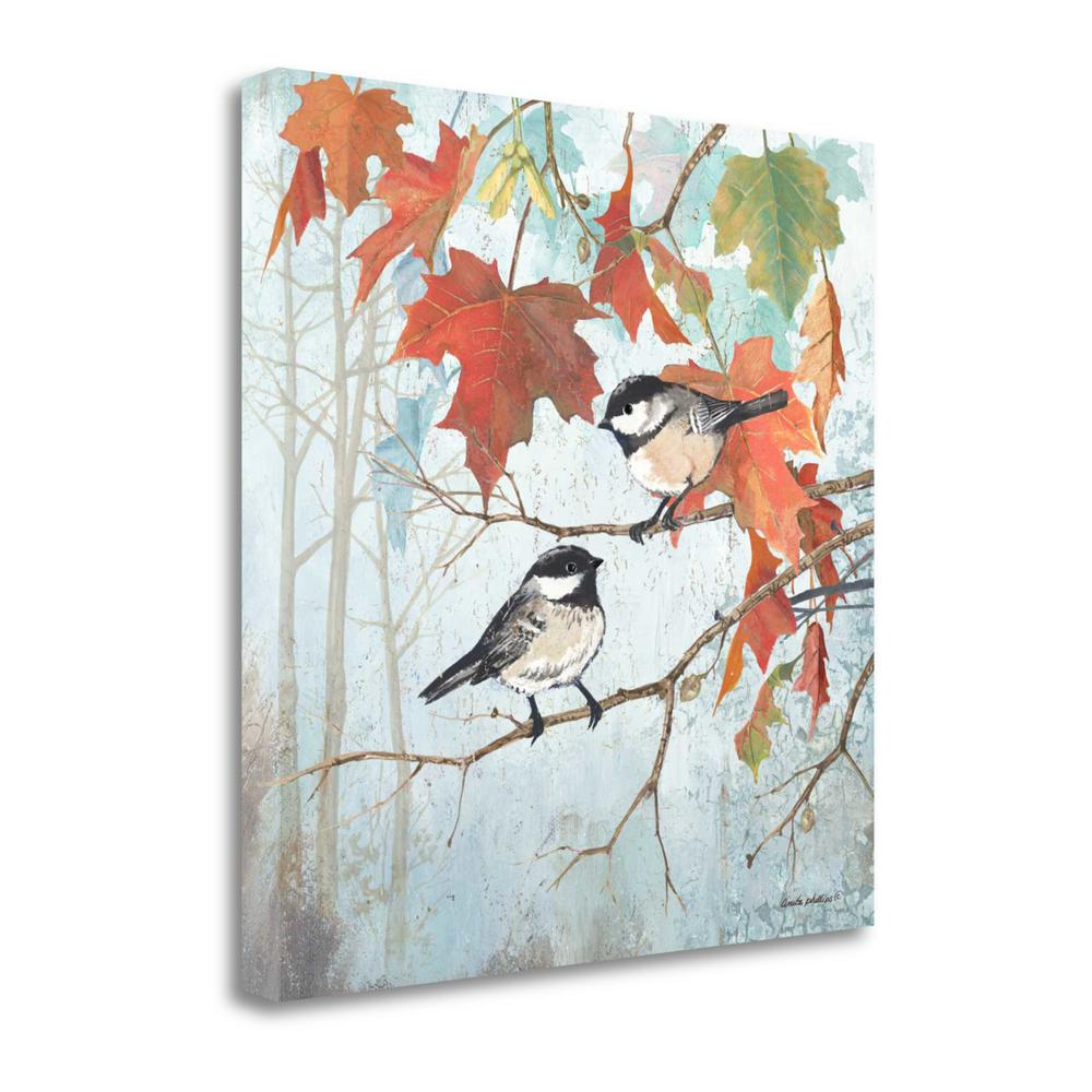 """""""Chickadees II"""" By Anita Phillips, Giclee Print on Gallery Wrap Canvas. Picture 1"""