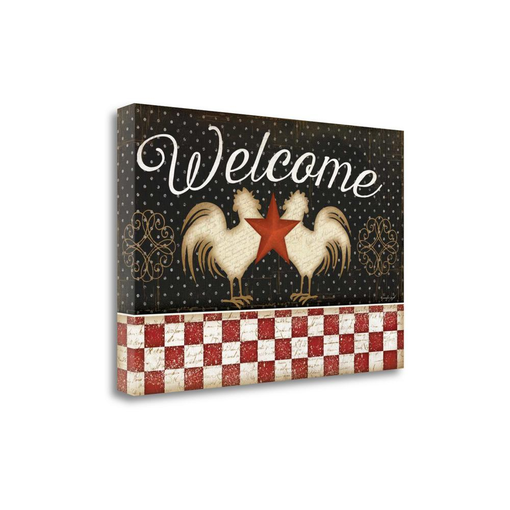 """""""Welcome"""" By Jennifer Pugh, Fine Art Giclee Print on Gallery Wrap Canvas, 15"""" x 22"""", SBJP4664-2215c. Picture 1"""